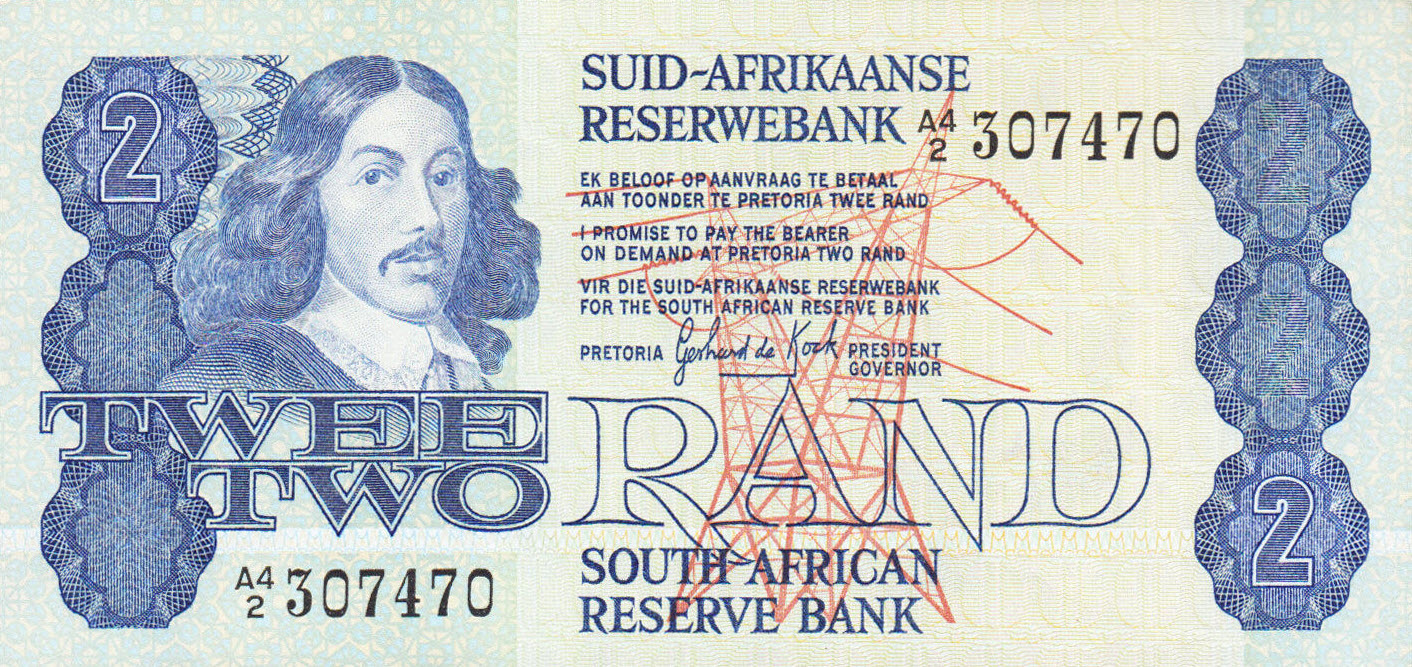 P118b South Africa 2 Rand Year ND