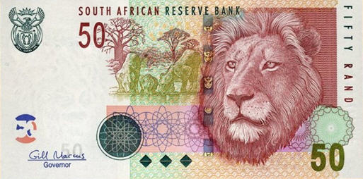 P130b South Africa 50 Rand ND (Sign. G. Marcus)