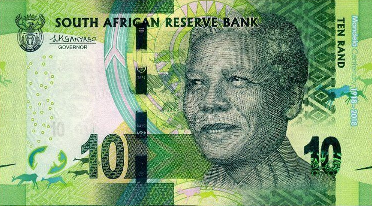 P143 South Africa 10 Rand Year 2018 (Comm.)