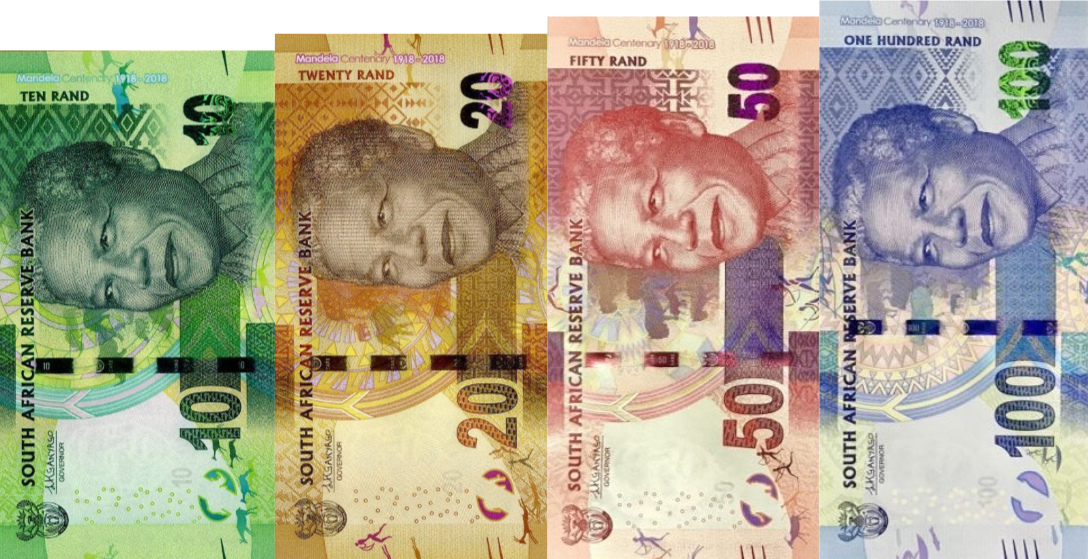 (370) ** PNew South Africa 10-20-50 & 100 Rand (4 x) 2018