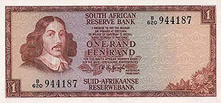 P115a South Africa 1 Rand Year nd
