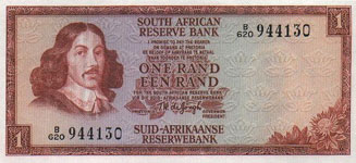 P115b South Africa 1 Rand Year nd