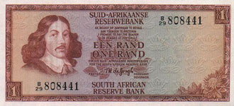 P116b South Africa 1 Rand Year nd