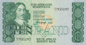 P120a South Africa 10 Rand Year nd