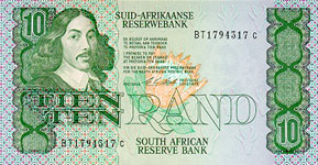 P120d South Africa 10 Rand Year nd