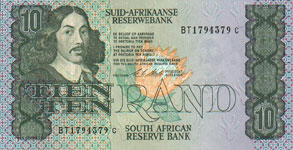 P120e South Africa 10 Rand Year nd