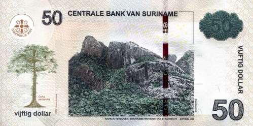 (486) Surinam P165c - 50 Dollars Year 2016