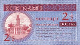 P156 Surinam   2,5 Dollar Year 2004