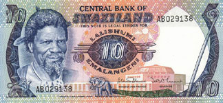 P10c Swaziland 10 Emalangeli Year nd
