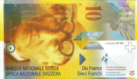 (307) Switzerland P66a - 10 Francs Year  1995