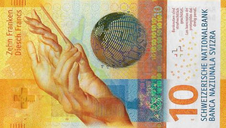 P75 Switzerland 10 Francs Year 2016
