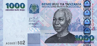 P36a Tanzania 1000 Shillings Year nd