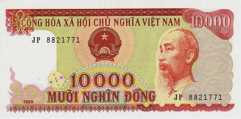 P115 Vietnam 10.000 Dong Year 1993