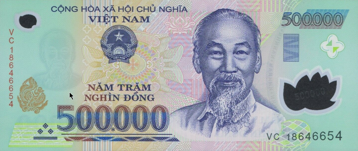 (301) Vietnam P124m - 500.000 Dong Year 2017