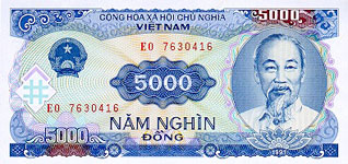 P108 Vietnam 5000 Dong Year 1991