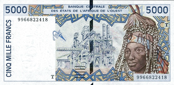 (167) Togo W.A.S. T P813Th - 5000 Francs Year 1999