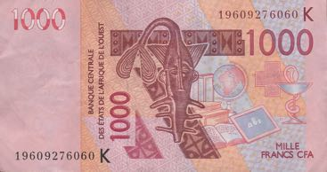 P715K Senegal W.A.S. 1000 Francs Year 2019