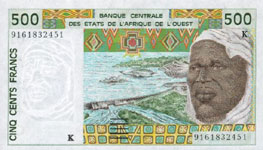 P710k Senegal W.A.S. K 500 Francs Year 2002