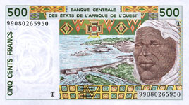 P810t Togo W.A.S. T 500 Francs Year 1999/02