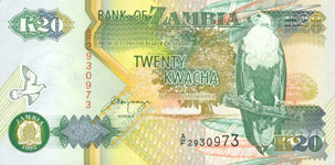 45.00 Euro - Zambia P36 Bundle of 100 pieces
