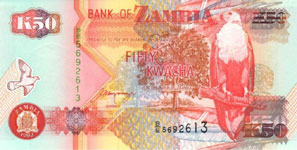 30.00 Euro - Zambia P37 Bundle of 100 pieces