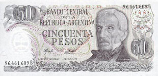 P301a Argentina 50 Pesos Year ND