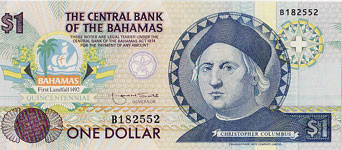 P50 Bahamas 1 Dollar Year nd
