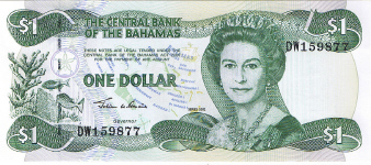 P70 Bahamas 1 Dollar Year 2002