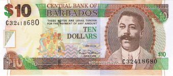 P68 Barbados 10 Dollars Year 2007