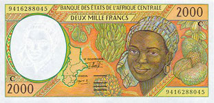 P103 Cf Congo Republic 2000 Francs Year 2000