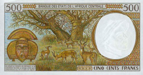P601 P Chad 500 Francs Year 2000