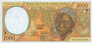 P603 P Chad 2000 Francs Year 1997/00
