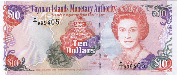 P35 Cayman Islands 10 Dollars Year 2005