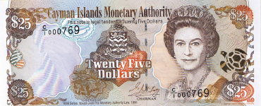 P24 Cayman Islands 25 Dollars Year nd