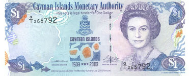 P30 Cayman Islands 1 Dollar Year 2003