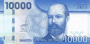 P164b Chili 10.000 Pesos Year 2011
