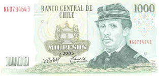 P154 Chile 1000 Pesos year 2005