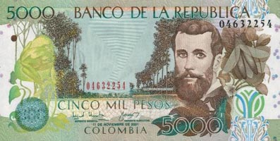 P452 Colombia 5000 Peso Year 2003/2006