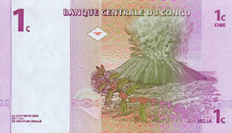 P 80 Congo Dem. Rep. 1 Centime Year 1997