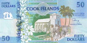 P10 Cook Islands 50 Dollar year nd