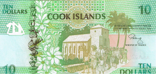 P 8 Cook Islands 10 Dollar year nd