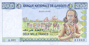 P40 Djibouti 2000 Francs Year nd