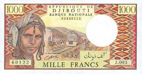 P37d Djibouti 1000 Francs Year nd