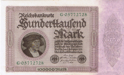 P 83a Germany 100.000 Mark year 1923