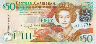 P45M Eastern Caribbean 50 Dollars Year nd