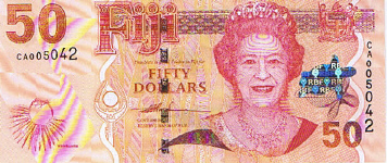 P113 Fiji Islands  50 Dollars Year nd (2007)