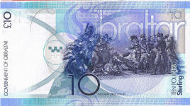 P36 Gibraltar 10 Pounds year 2010