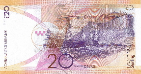 P37 Gibraltar 20 Pounds year 2011