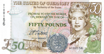 P59 Guernsey 50 Pounds Year nd