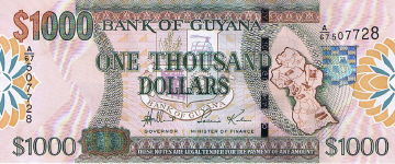 P35 Guyana 1000 Dollars year nd (2006)
